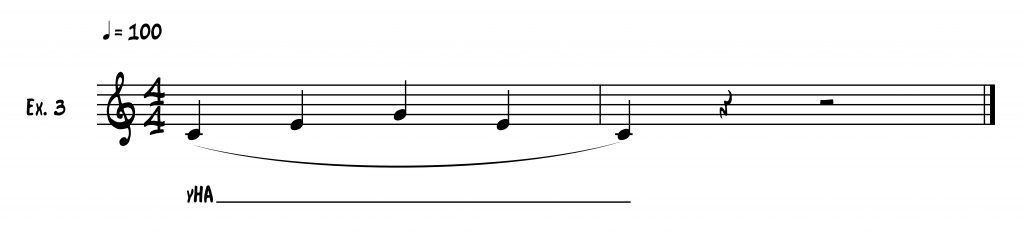three note scale